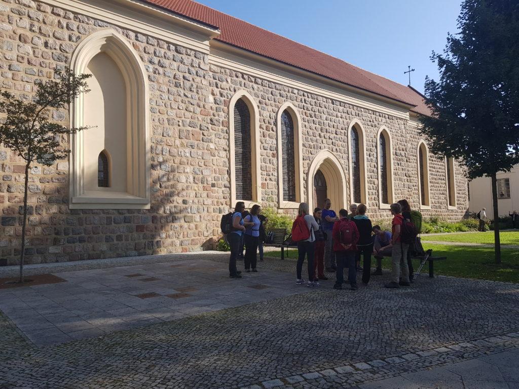 an der Kirche in Teltow