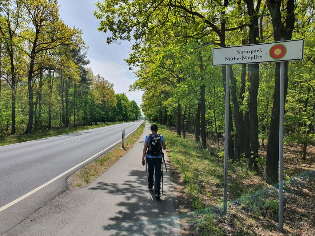 Straße Richtung Kloster Zinna